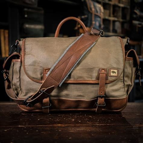 military waxed canvas messenger bag gentlemint reserve