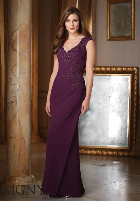 chiffon evening dress style  morilee