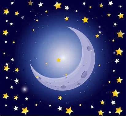 Moon Stars Night Scene Vector Star Freepik
