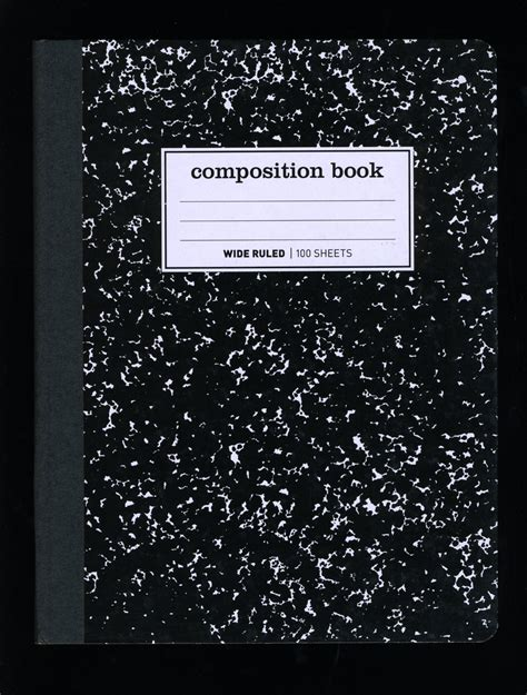 compsotion notebook template composition book template gallery template design ideas