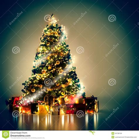 magical christmas tree stock photo image of up blue