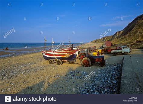Fishing Boat East Runton Norfolk by Beach And Crab Boats By Landing R At East Runton