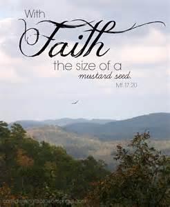 Faith Mustard Seed Size