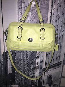 COACH Authentic LEATHER Lime Green Chelsea Satchel