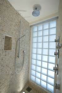 glass block bathroom ideas decoration ideas fixed chrome shower with blue glass block shower tile wall for