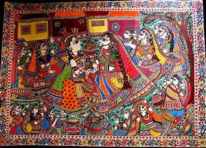 The Golden Traditional Madhubani Painting at Art Gaga