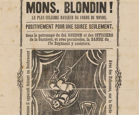chambre commerce canada monsieur blondin the most tightrope dancer in the