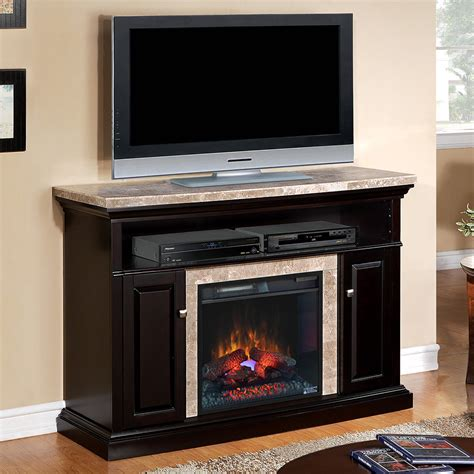 electric media fireplace brighton electric fireplace media console in coffee black