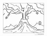 Volcano Coloring Pages Teachers Include Classroom Students Illustrations Welcome sketch template