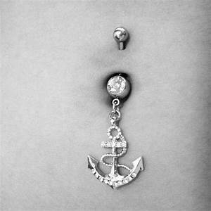 anchor belly button ring | Cute belly button rings | Pinterest