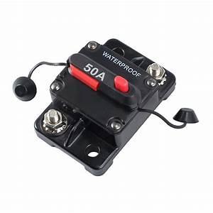 50a Amp Circuit Breaker Dual Battery Manual Reset Ip67