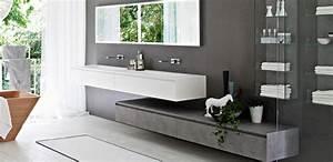 Meuble Pour Petite Salle De Bain : meuble salle de bain design double vasque carrelage ~ Dailycaller-alerts.com Idées de Décoration