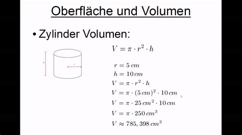 oberflaeche und volumen quader kugel und zylinder youtube