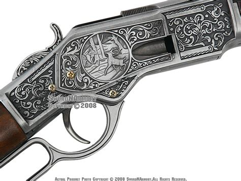 38 quot replica winchester lever 1873 engraved decoration rifle ebay
