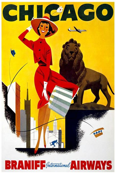 classic travel poster promotes transport