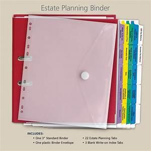 estate planning binder estate planning pinterest With financial documents organizer