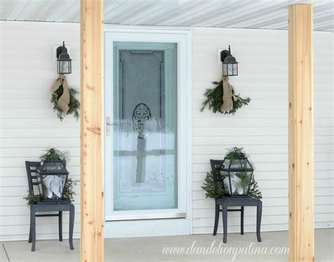 Rustic Winter Front Porch  Dandelion Patina
