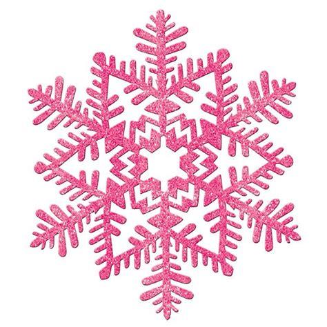 glitter snowflake pink 11in pinterest snowflakes