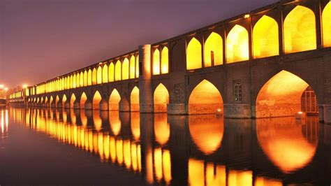 full hd wallpaper isfahan iran zayande bridge reflection