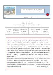 worksheets the world of work vocabulary
