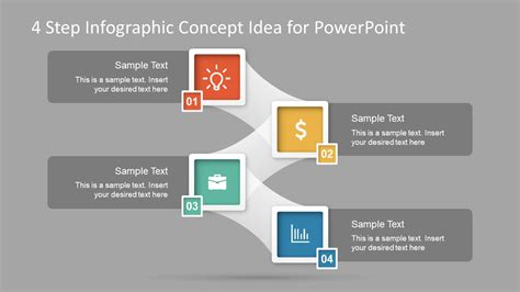 Concept Maps Templates Steps by 4 Step Infographic Concept Idea For Powerpoint Slidemodel