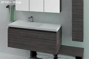 Meuble 100 Cm : grand meuble salle de bain suspendu avec plan lavabo encastr 100cm ~ Teatrodelosmanantiales.com Idées de Décoration