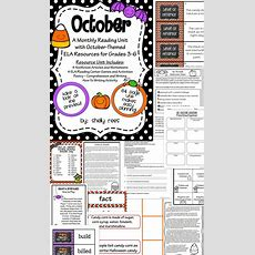 Reading Comprehension Passages  October Reading Unit  Everything, Writing And Halloween