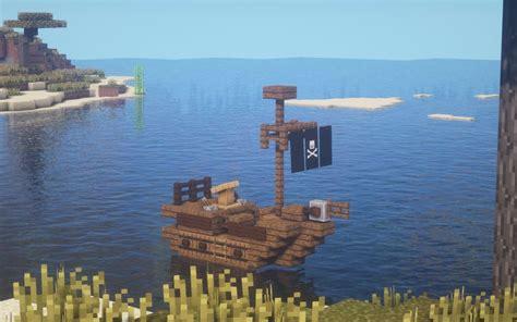build  small pirate ship  minecraft minecraft ships minecraft architecture