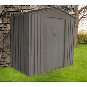 abri de jardin metal 243m2 imitation bois vieilli With abri de jardin metal imitation bois