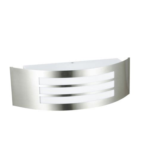 brushed stainless steel wall light for exterior use