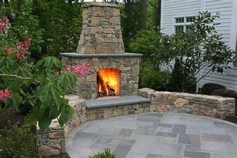 Round Outdoor Fireplace Patio  Fire Pit Pinterest