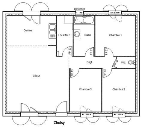 Plan Maison 80m2 Maroc