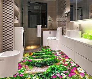 Brilliant 3d floor designs to make a small bathroom look for How to make my bathroom look bigger