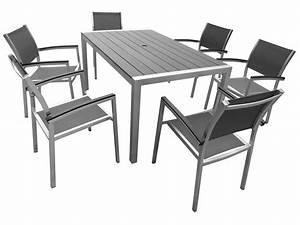 Salon De Jardin Pliant : salon de jardin acier textilene ~ Dailycaller-alerts.com Idées de Décoration