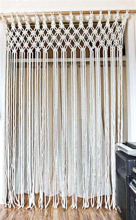 diy macrame curtain diy home decor ideas