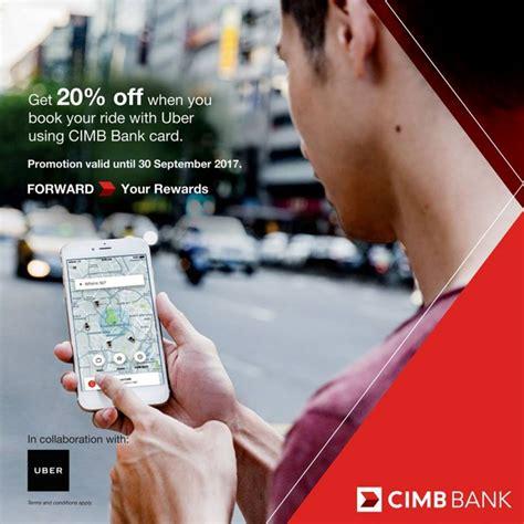 Cimb Bank Cardmembers Uber Promotion