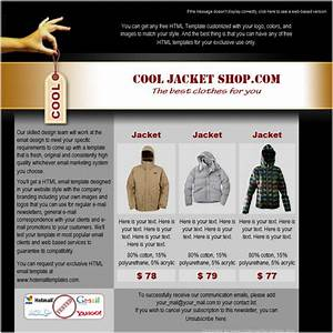 cool shop free html e mail templates With cool html email templates