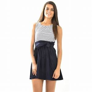 robe patineuse mariniere marine achat vente robe With robe marinière femme