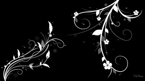 Abstract Flowers Black And White black white floral wallpapers floral patterns