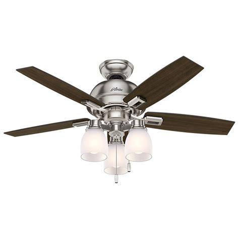 Home Depot Ceiling Fans Brushed Nickel by Donegan 44 In Led 3 Light Indoor Brushed Nickel