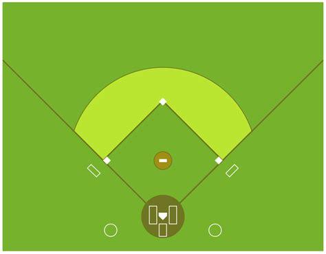 baseball field template colored baseball field diagram
