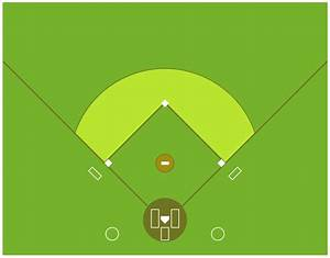 Colored Baseball Field Diagram