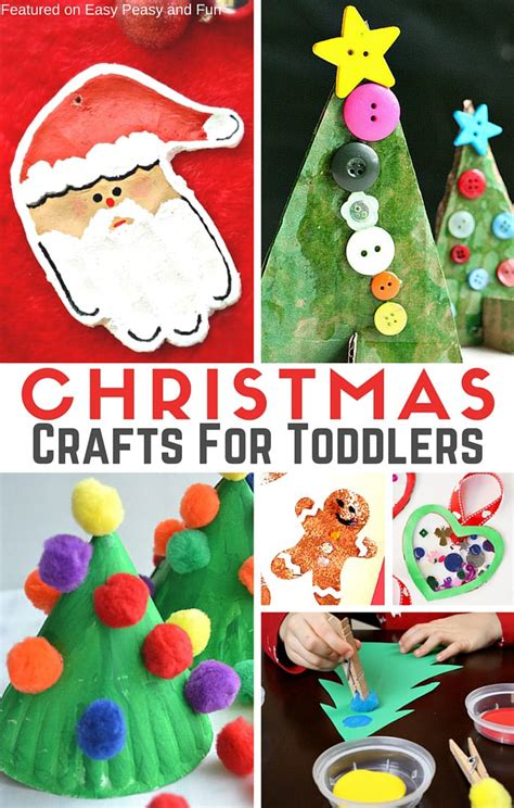 simple christmas crafts  toddlers easy peasy  fun