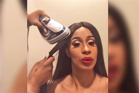 cardi b without her wig cardi b calls out stylist for charging her 400 for flat