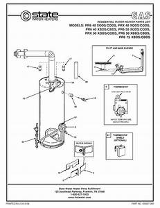 State Water Heaters Pr6 40 Cbds Parts List Pdf Download