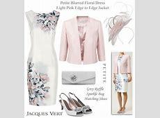 Petite Mother of the Bride Light Pink Grey Wedding