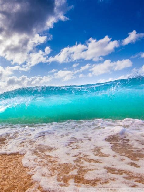ocean waves  hd desktop wallpaper   ultra hd tv