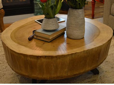 How To Build A Stump Coffee Table  Howtos Diy