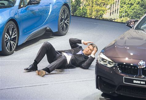 bmw ceo faint video bmw ceo collapses at frankfurt motor show