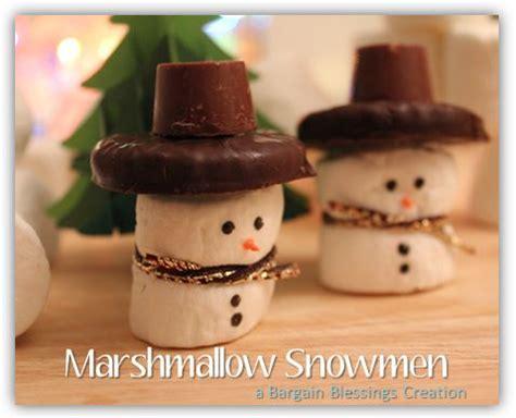 kids christmas craft idea marshmallow snowmen